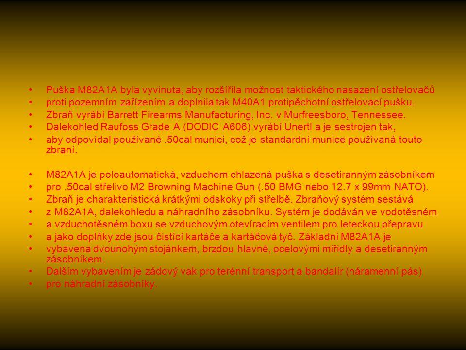 M82A1A.50cal puška speciálního použití