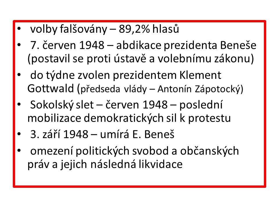volby falšovány – 89,2% hlasů 7.