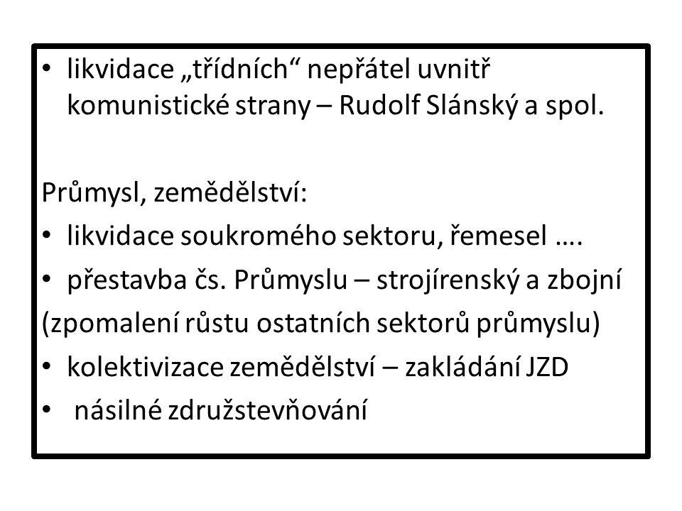"""likvidace """"třídních nepřátel uvnitř komunistické strany – Rudolf Slánský a spol."""