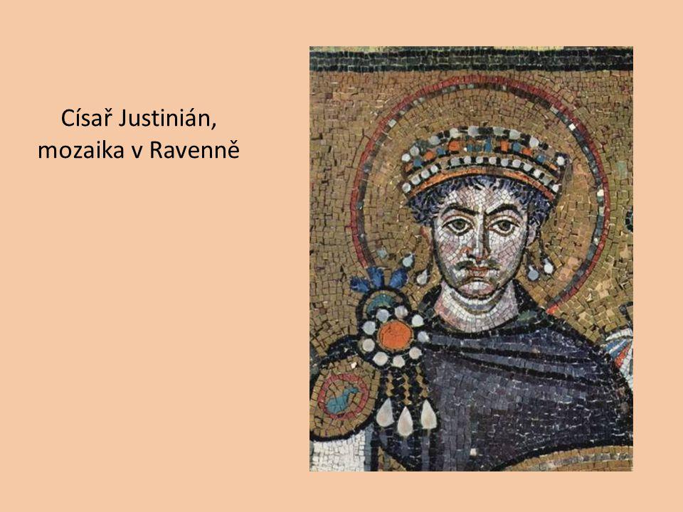 Císař Justinián, mozaika v Ravenně