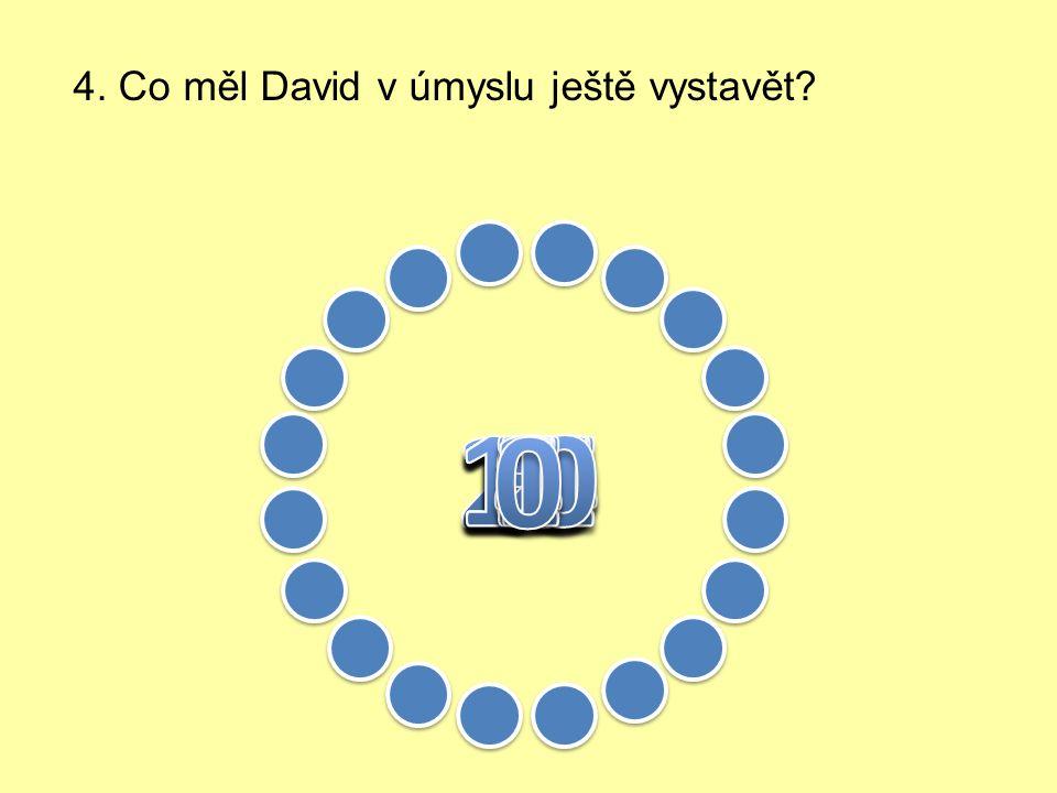 3. Čím chtěl David proslavit toto město?