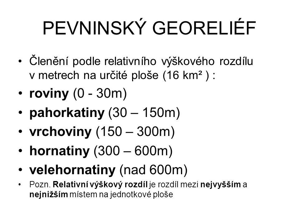 PODMOŘSKÝ GEORELIÉF pevninský šelf (průměrně do 130 m až 200m ) pevninský svah pevninské úpatí hlubokooceánské pánve (3-6 km ) středooceánské hřbety (2-3 km ze dna) hlubokooceánské příkopy (až 11 km)