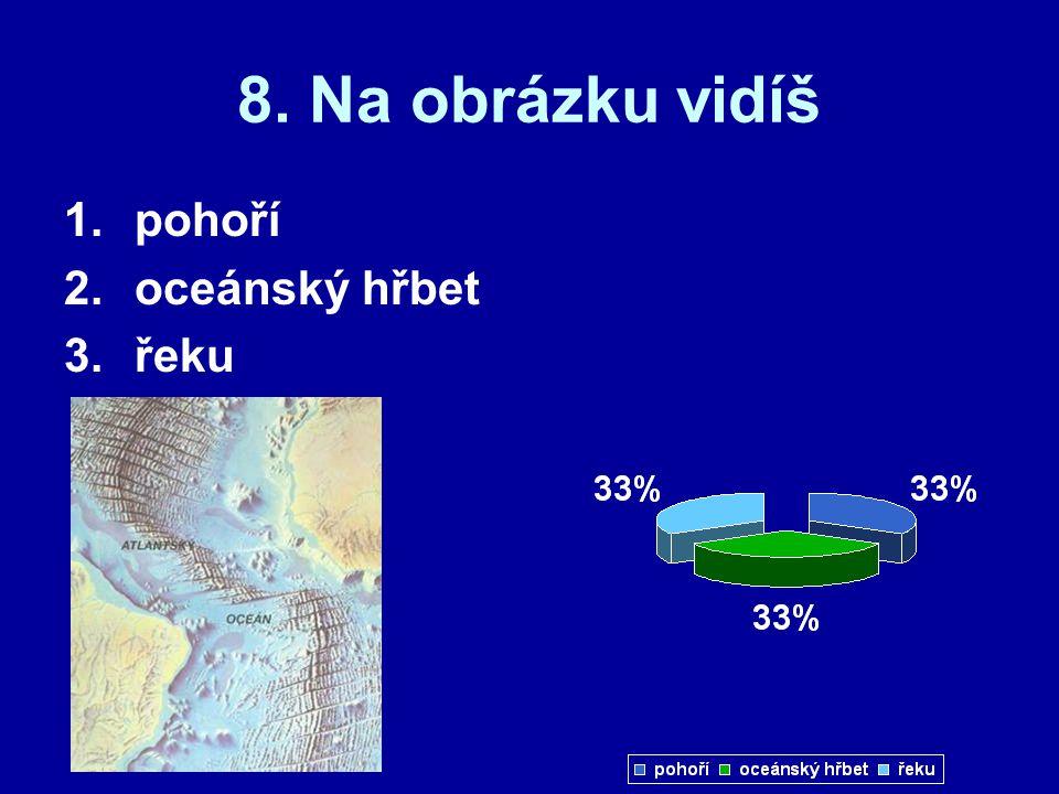 19. Šipka ukazuje 1.oceánský hřbet 2.šelfové moře 3.oceánskou zemskou kůru