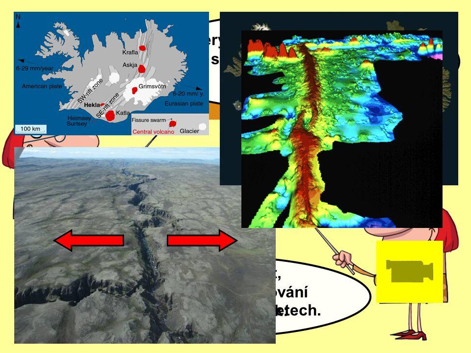 Pokuste se popsat, proč dochází k oddalování litosférických desek: Který známý ostrov leží přímo na středooceánském hřbetu? (65° s.š., 20° z.d.) K tom