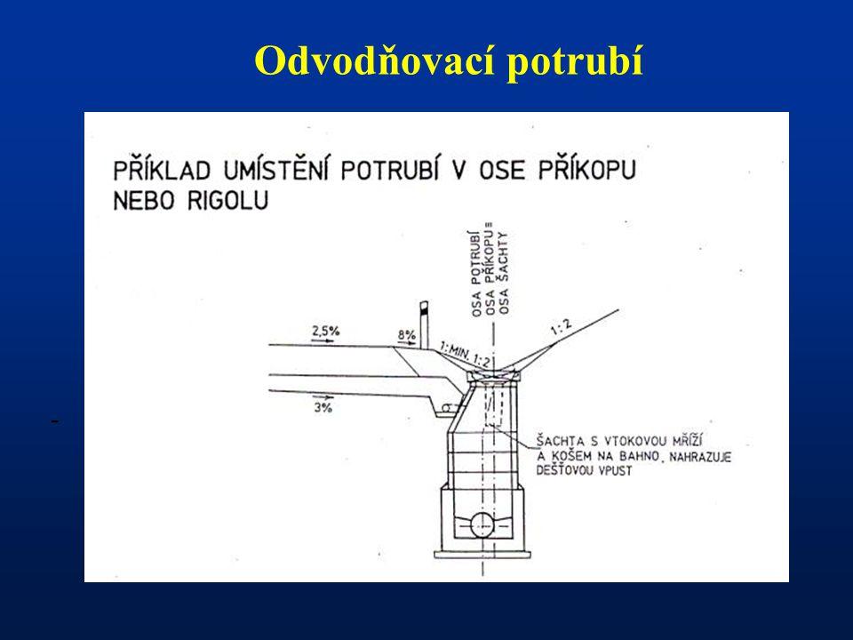 - Odvodňovací potrubí