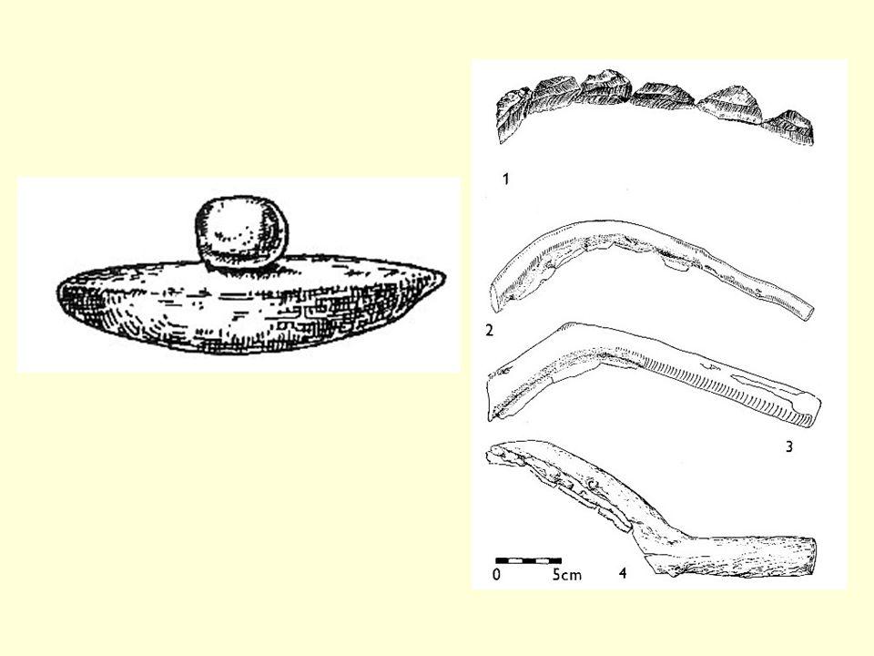 Textil Výroba suroviny přesleny tkalcovský stav závaží dochované zbytky tkanin a jejich vazby (studna v Mohelnici) nebo dochované otisky (Luleč – keprová vazba ) pozůstatky v objektech – Diváky, Hrdlovka