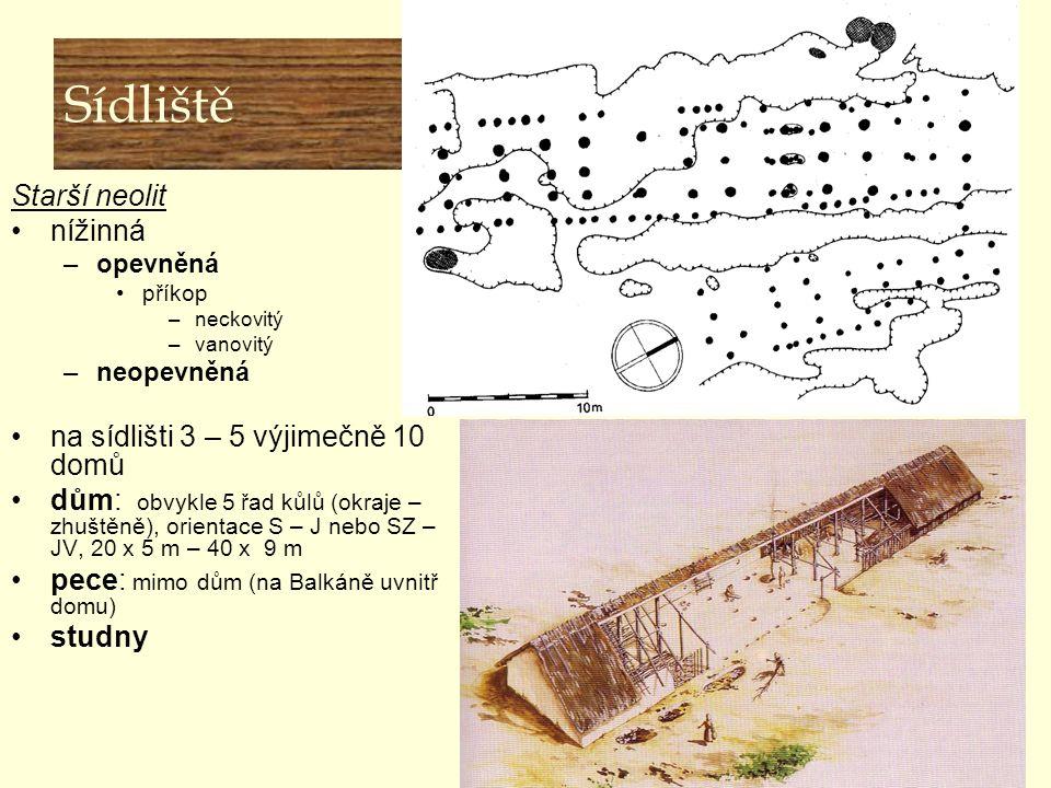Starý neolit Lineární keramika (LNK) ☻lokality  Vedrovice, Těšetice- Kyjovice, Mohelnice, Brno