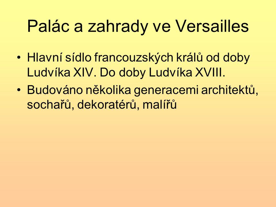 Paláce a zahrady Schönbrunnu Residence habsburských císařů od 18.