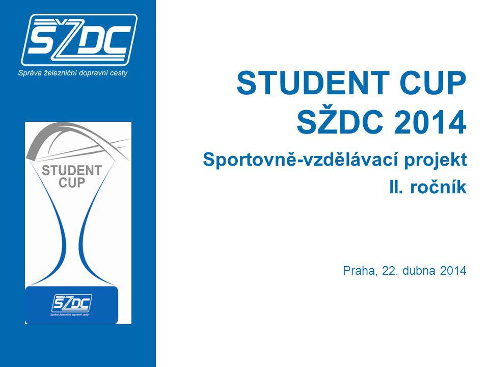 STUDENT CUP SŽDC 2014 Sportovně-vzdělávací projekt II. ročník Praha, 22. dubna 2014