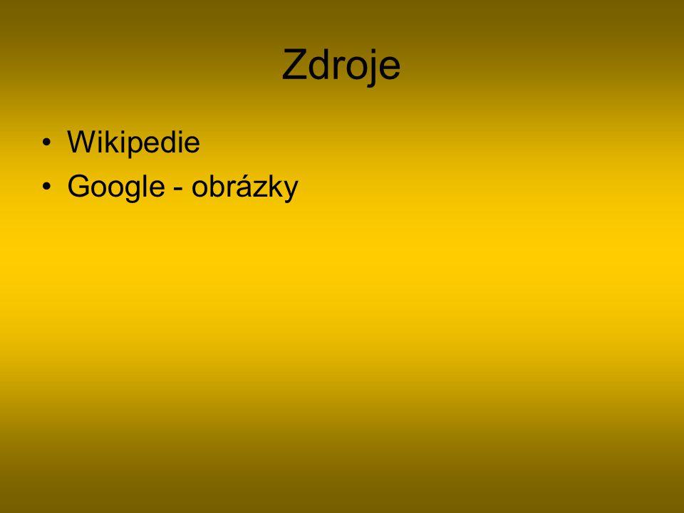 Zdroje Wikipedie Google - obrázky