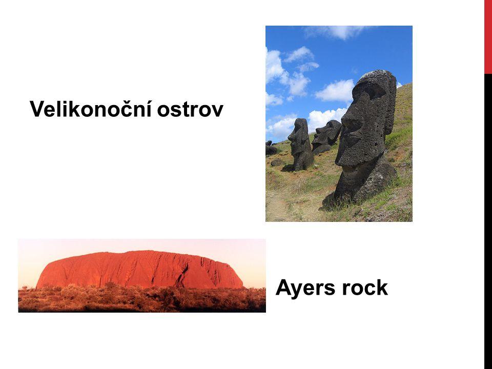 Velikonoční ostrov Ayers rock