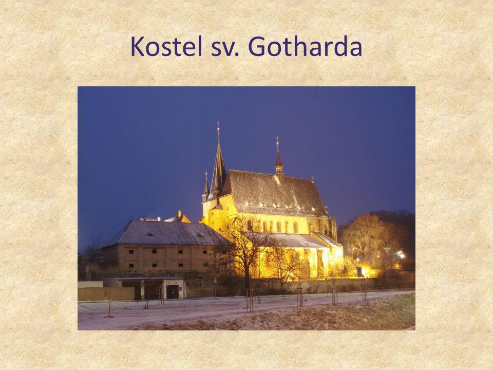 původně románská stavba, přestavěná do gotického slohu v 15.