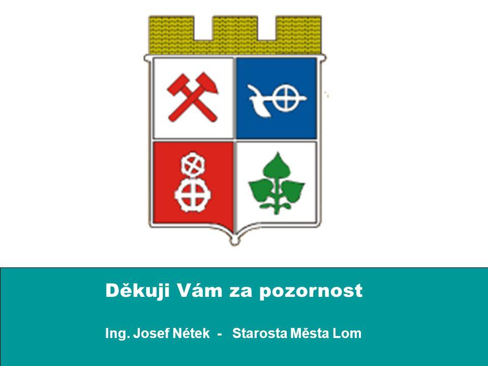 Děkuji Vám za pozornost Ing. Josef Nétek - Starosta Města Lom