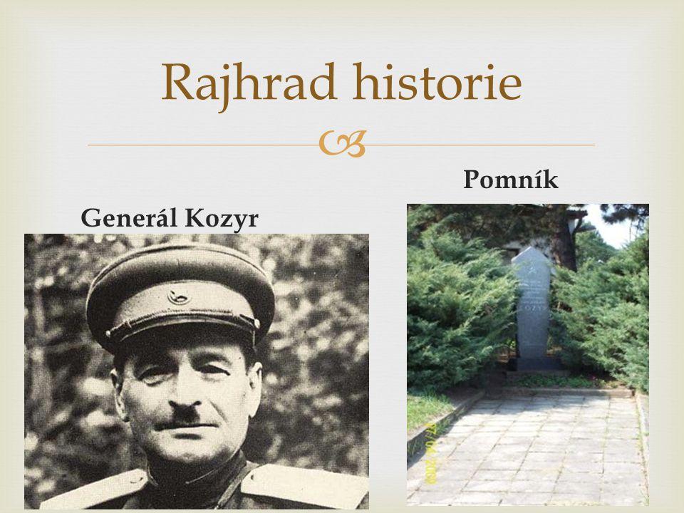  Pomník Generál Kozyr Rajhrad historie
