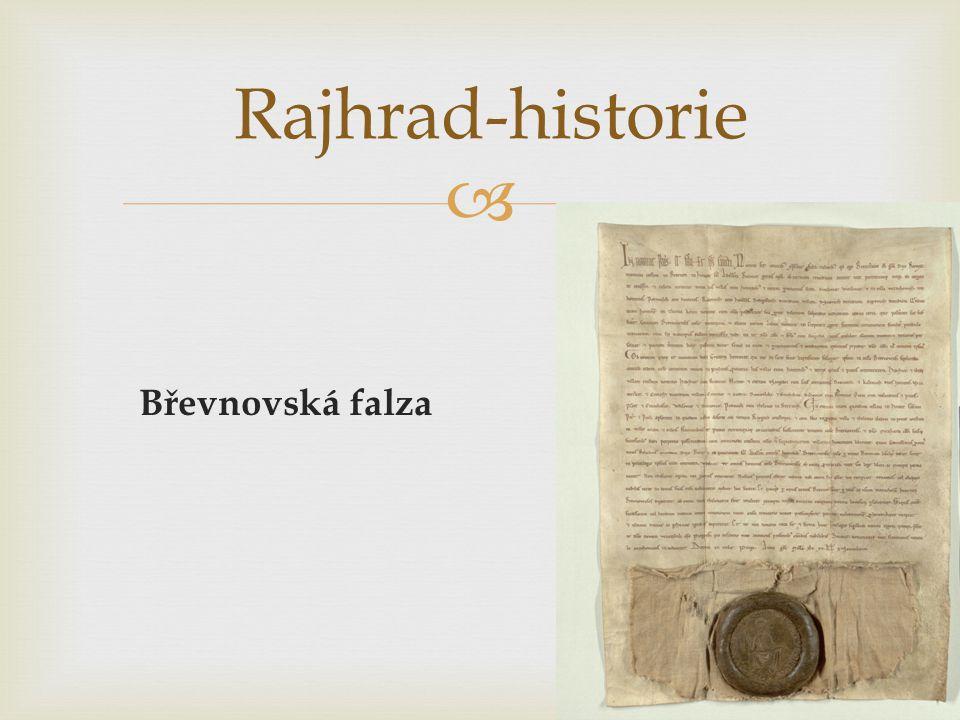  Břevnovská falza Rajhrad-historie