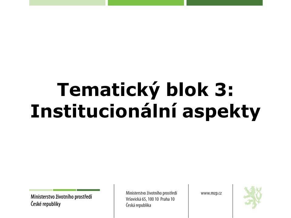 Tematický blok 3: Institucionální aspekty