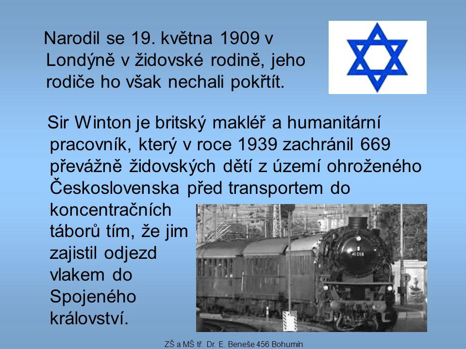 Narodil se 19. května 1909 v Londýně v židovské rodině, jeho rodiče ho však nechali pokřtít. Sir Winton je britský makléř a humanitární pracovník, kte