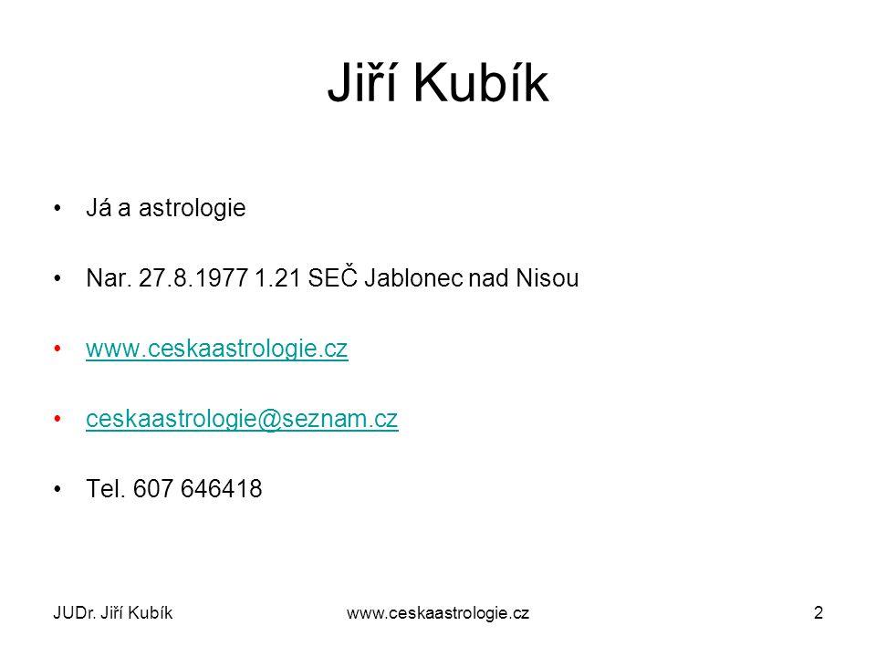 Jiří Kubík Já a astrologie Nar.