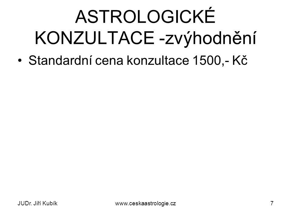 JUDr.Jiří Kubíkwww.ceskaastrologie.cz18 Problém vstupních dat J.