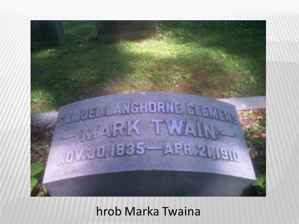 13 hrob Marka Twaina
