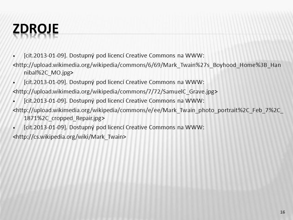 [cit.2013-01-09].Dostupný pod licencí Creative Commons na WWW: [cit.2013-01-09].