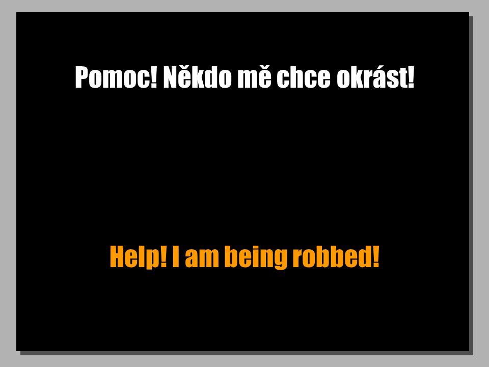 Pomoc! Někdo mě chce okrást! Help! I am being robbed!