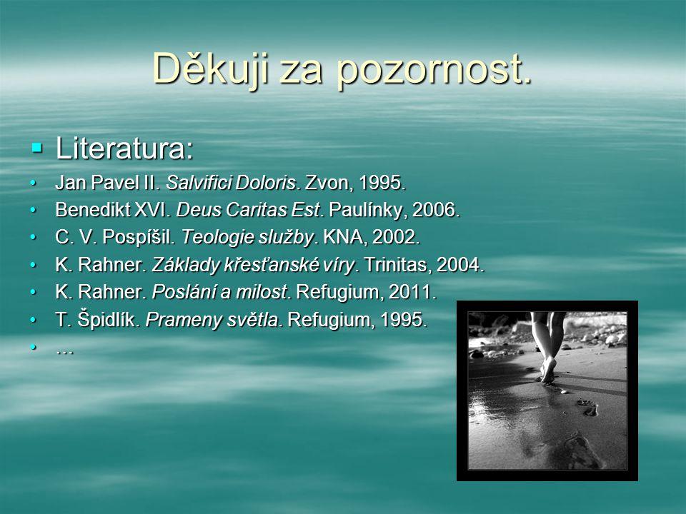 Děkuji za pozornost. Literatura: Jan Pavel II. Salvifici Doloris.