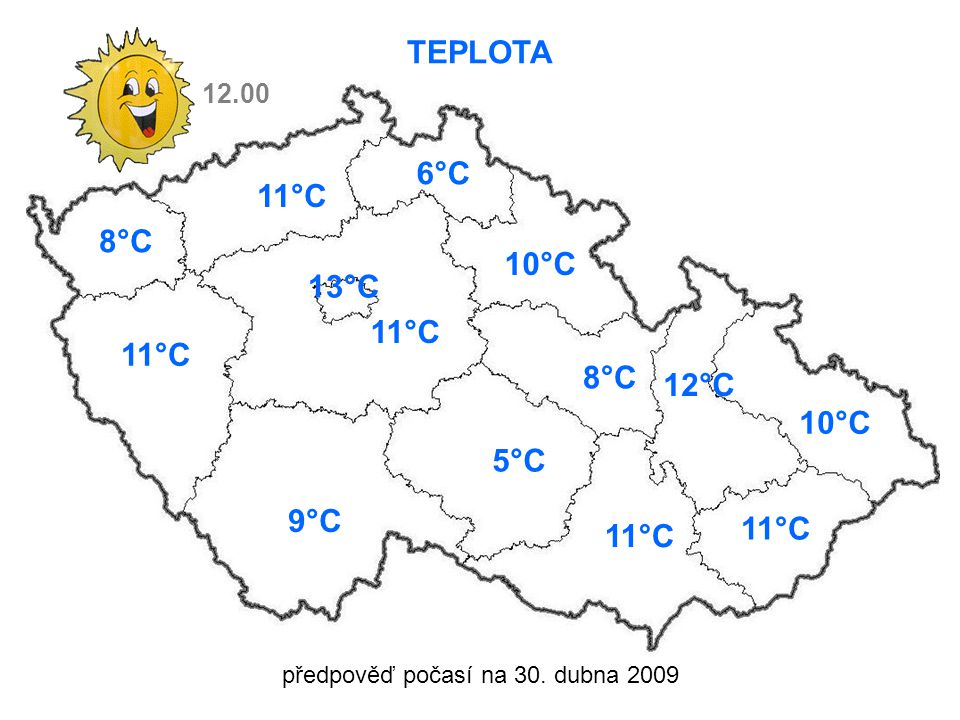 předpověď počasí na 30.