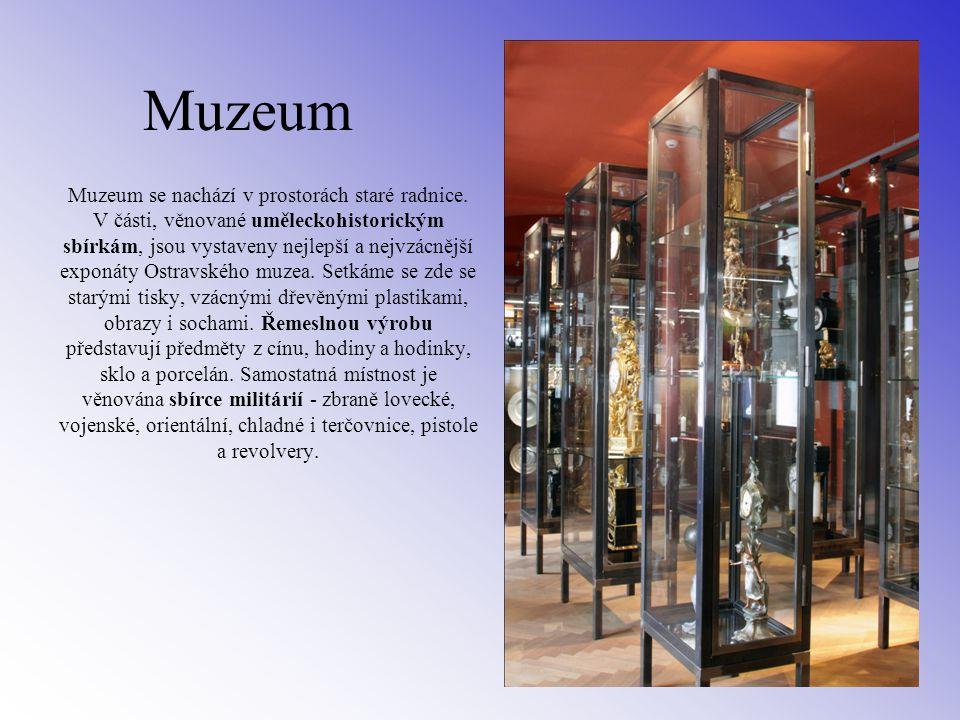 Muzeum Muzeum se nachází v prostorách staré radnice.