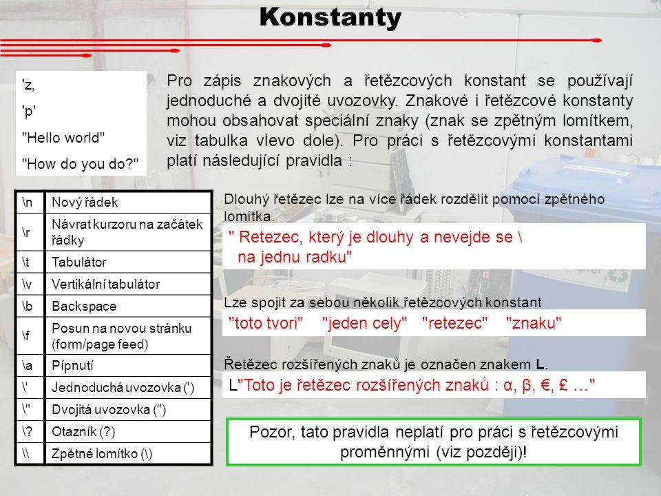 Konstanty 'z' 'p'