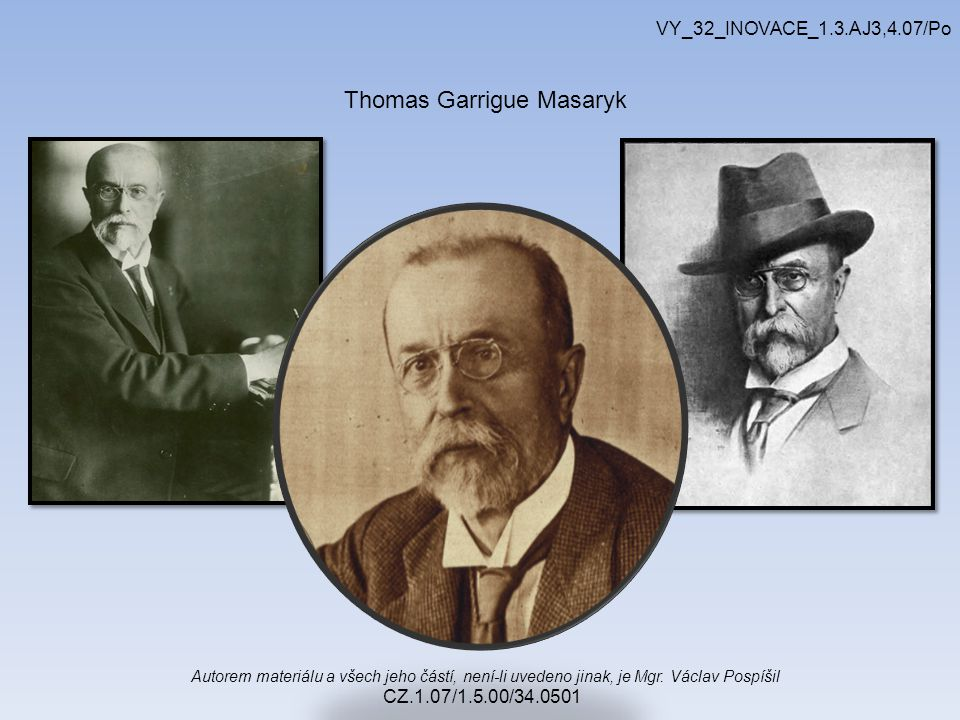 Autorem materiálu a všech jeho částí, není-li uvedeno jinak, je Mgr. Václav Pospíšil CZ.1.07/1.5.00/34.0501 VY_32_INOVACE_1.3.AJ3,4.07/Po Thomas Garri