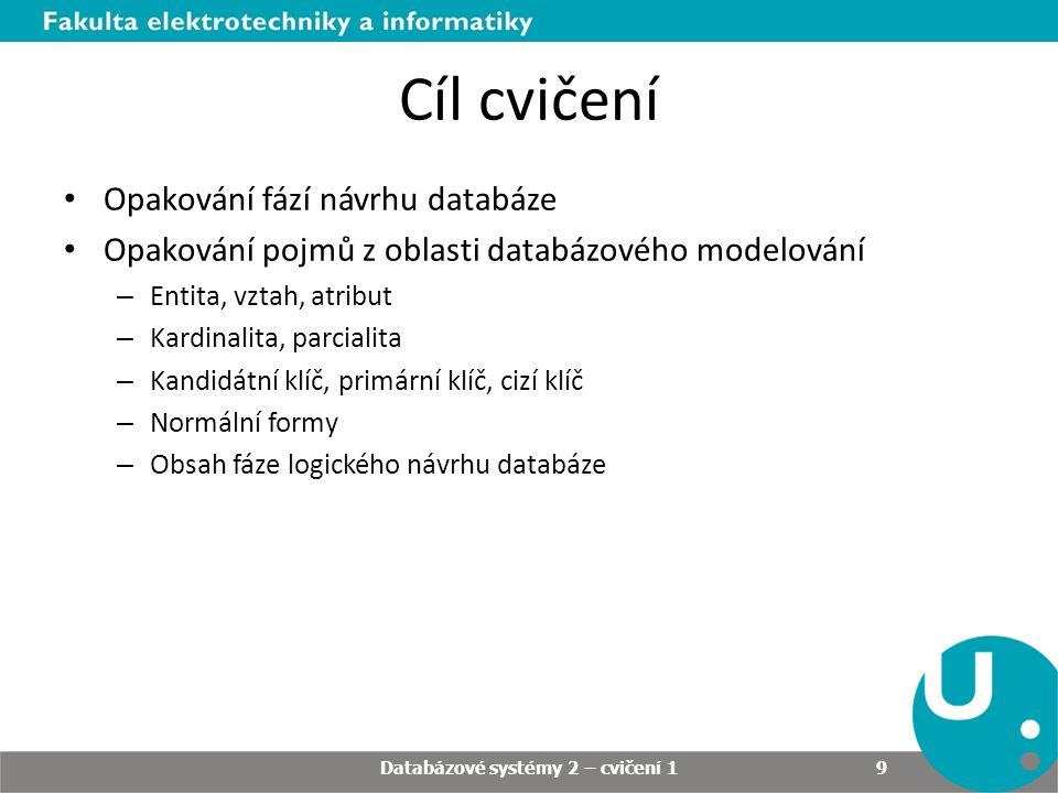 Cvičení 1 – zadání 1/1 Sestavte databázový model pro e-shop s bílým zbožím (tj.