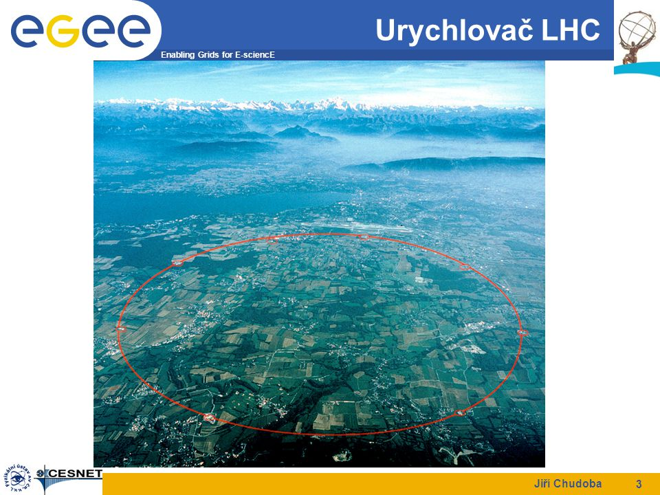 Enabling Grids for E-sciencE Jiří Chudoba 3 Urychlovač LHC