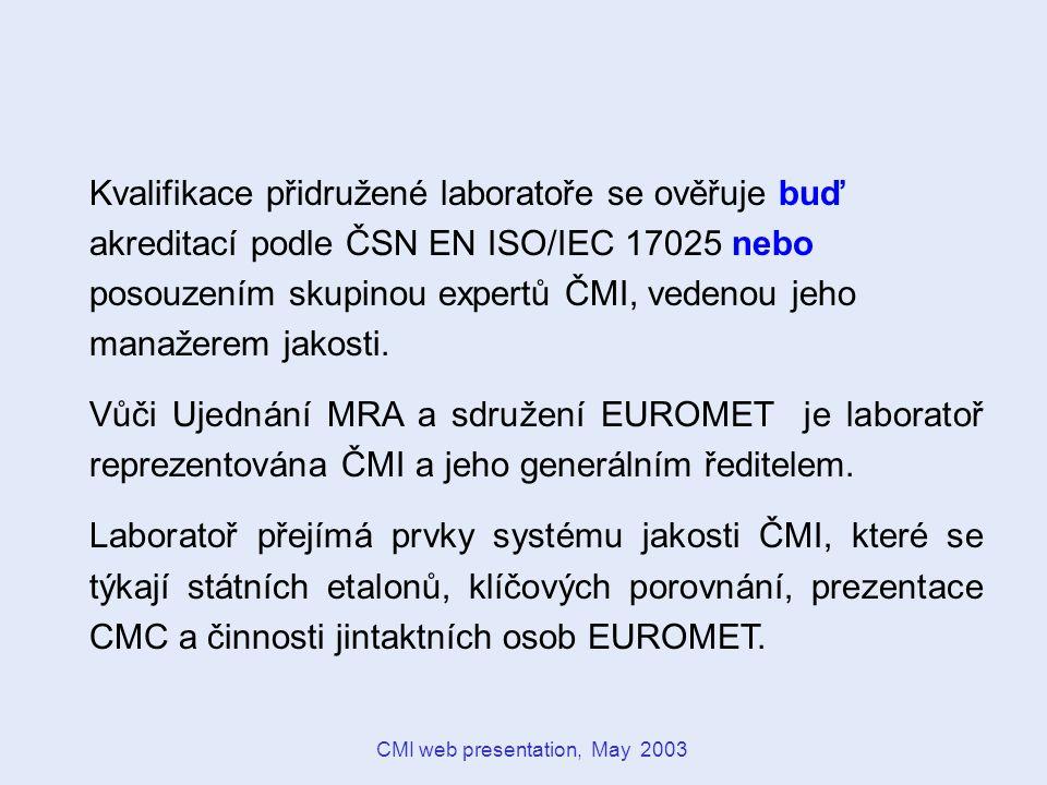 CMI web presentation, May 2003 ORGANIZACE