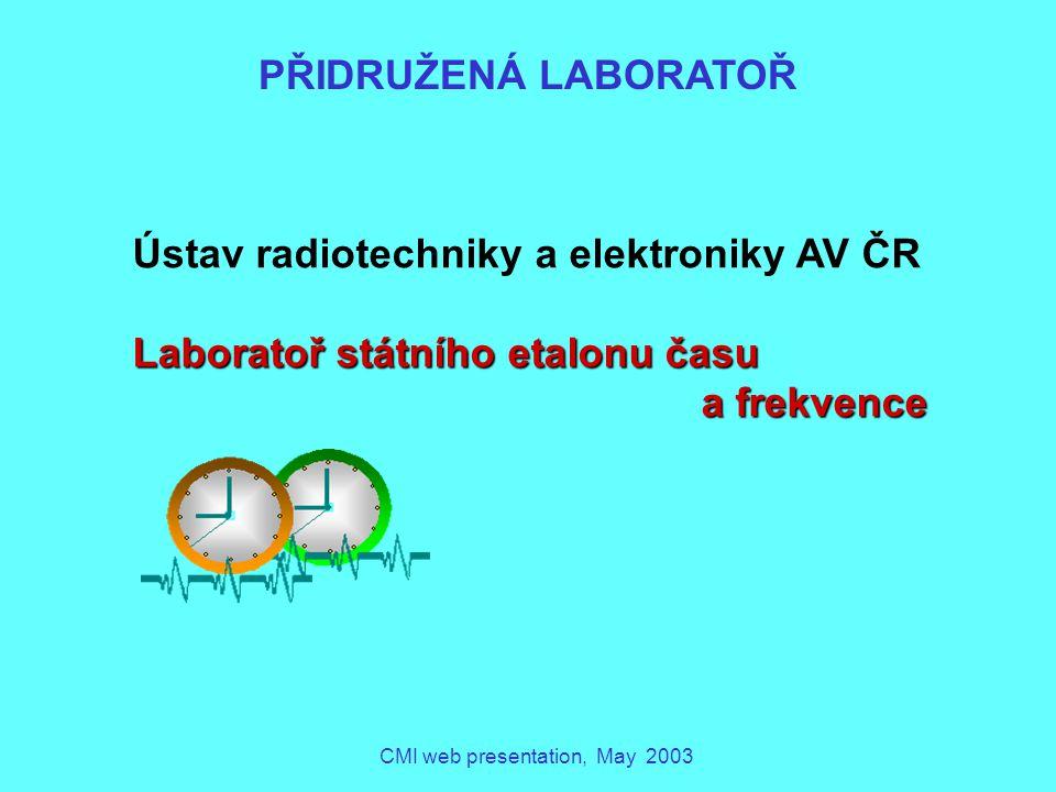 CMI web presentation, May 2003 KALIBRAČNÍ LABORATOŘ IMISÍ (EMISE V OBORU PŘÍMĚSÍ VE VZDUCHU, V ANGL.