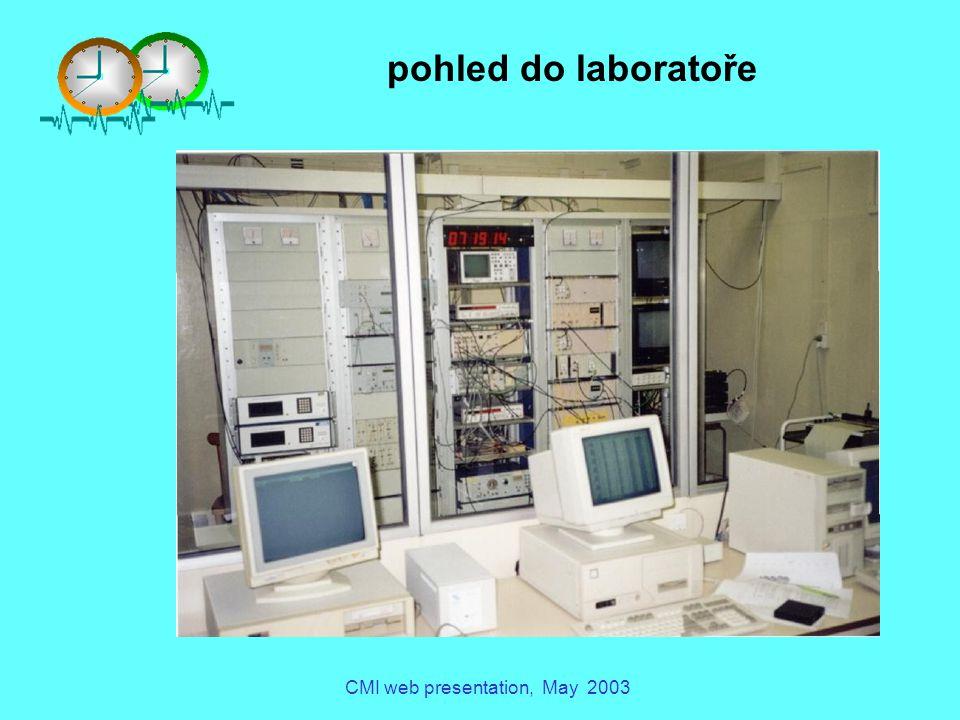 CMI web presentation, May 2003 vzorkování ref. materiálů pohled do laboratoře CHMI