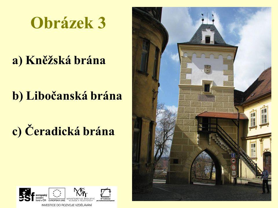 Obrázek 14 a) Klášterní zahrada a Kapucínský klášter b) Krásný dvůr c) Kostel sv. Václava
