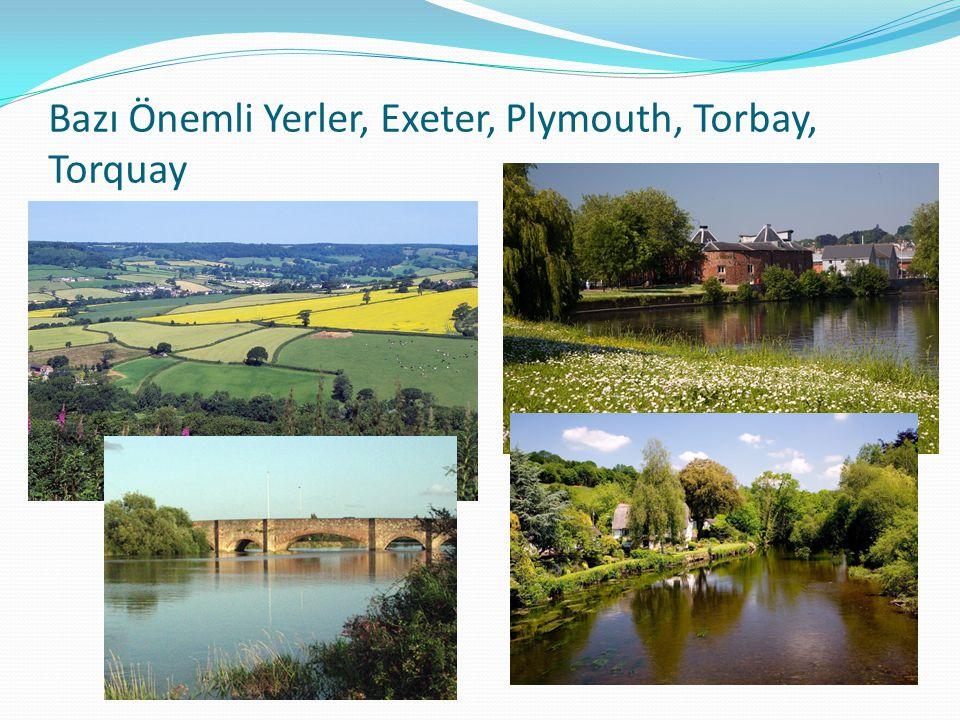 Bazı Önemli Yerler, Exeter, Plymouth, Torbay, Torquay