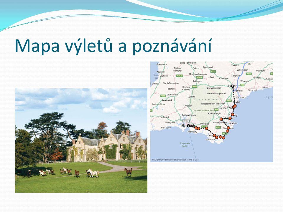Mapa výletů a poznávání