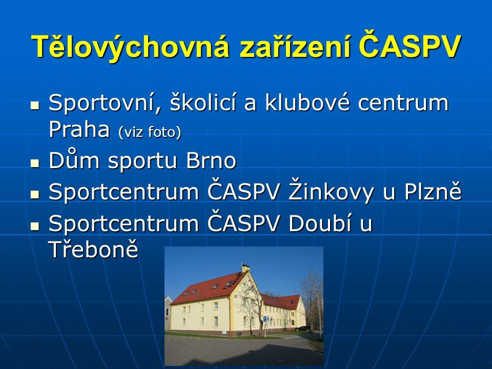 Vzdělávání v ČASPV Propracován systém školení a dalšího vzdělávání (směrnice č.