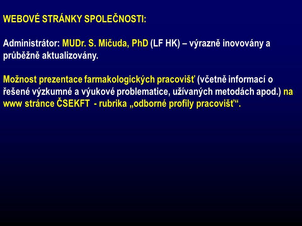 WEBOVÉ STRÁNKY SPOLEČNOSTI: Administrátor: MUDr.S.