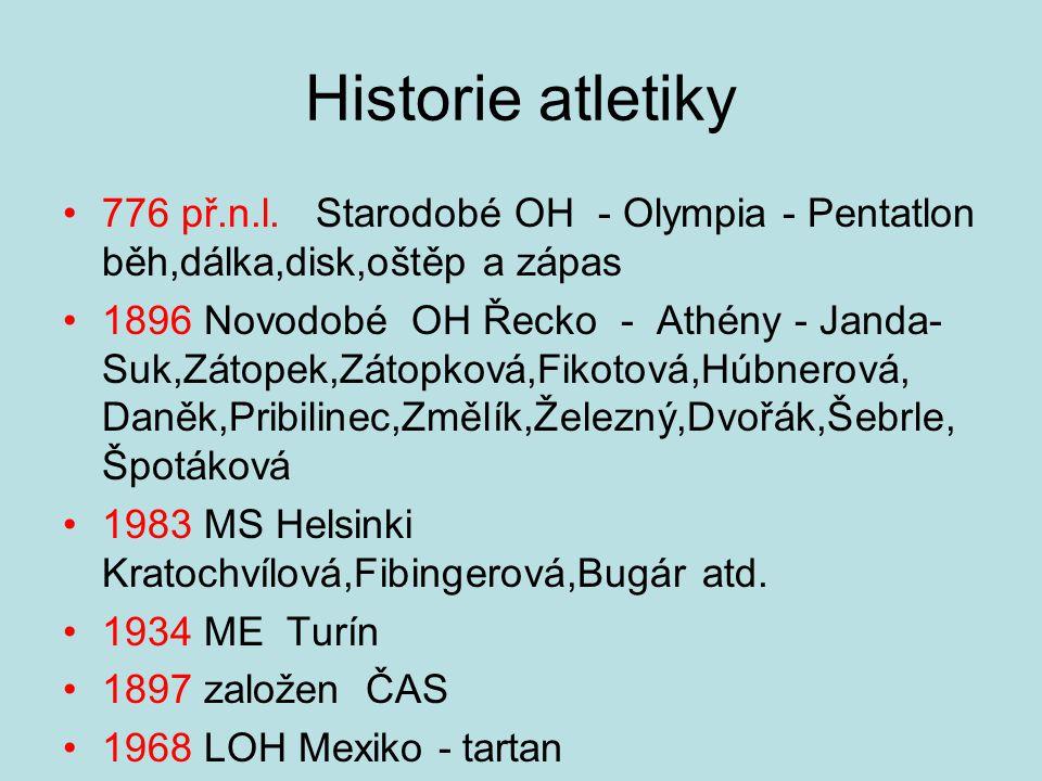 Historie atletiky 776 př.n.l.