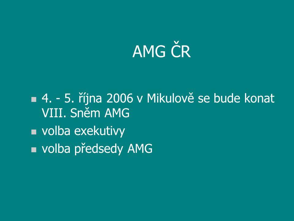 AMG ČR n 4. - 5. října 2006 v Mikulově se bude konat VIII.