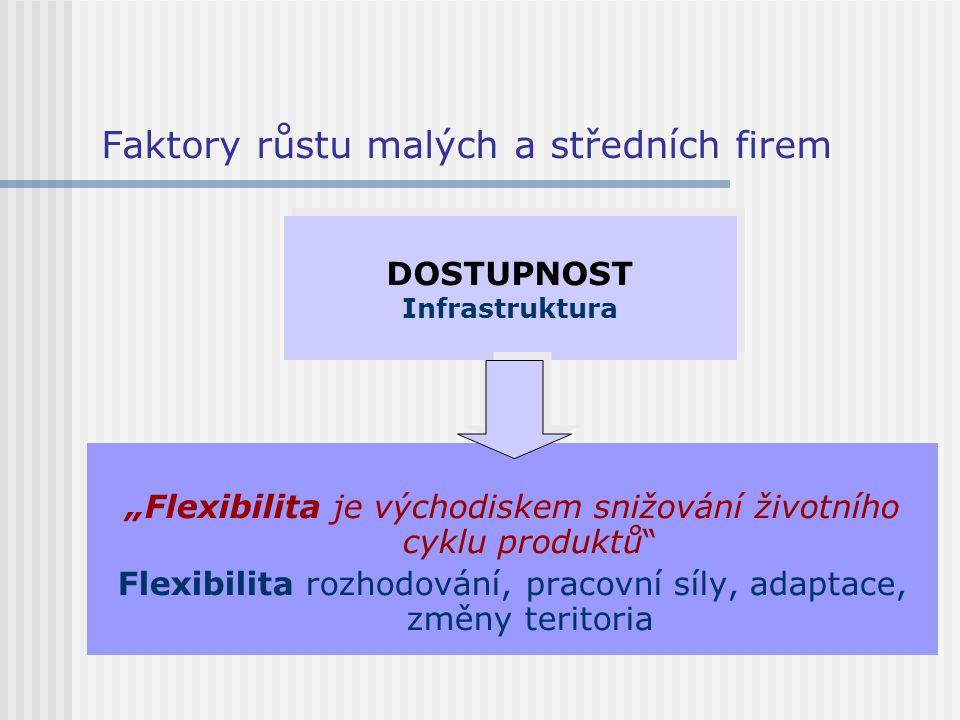 """Faktory růstu malých a středních firem """"Flexibilita je východiskem snižování životního cyklu produktů"""" Flexibilita rozhodování, pracovní síly, adaptac"""