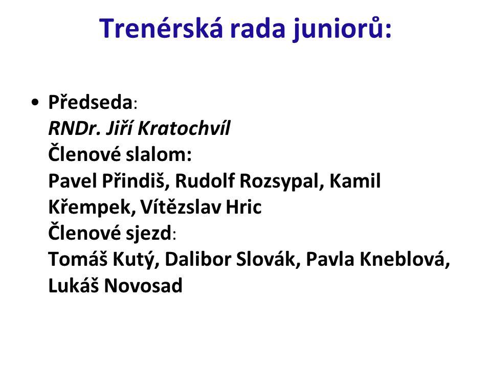Trenérská rada juniorů: Předseda : RNDr. Jiří Kratochvíl Členové slalom: Pavel Přindiš, Rudolf Rozsypal, Kamil Křempek, Vítězslav Hric Členové sjezd :