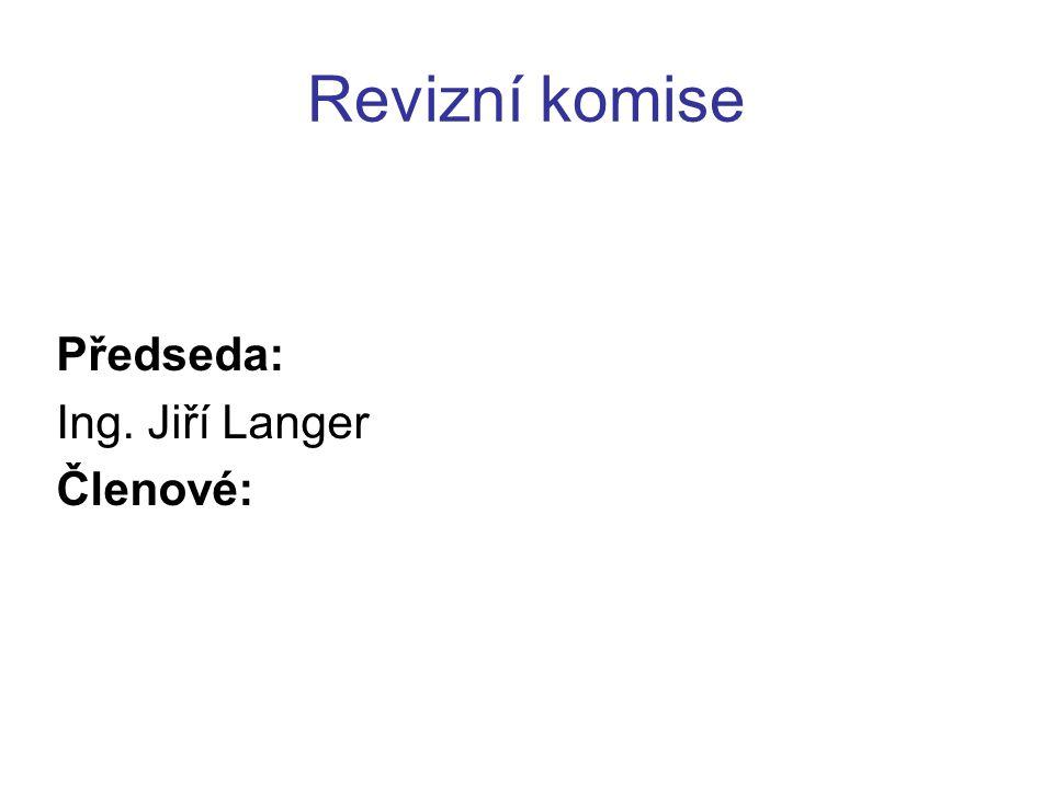 Předseda: Ing. Jiří Langer Členové: Revizní komise