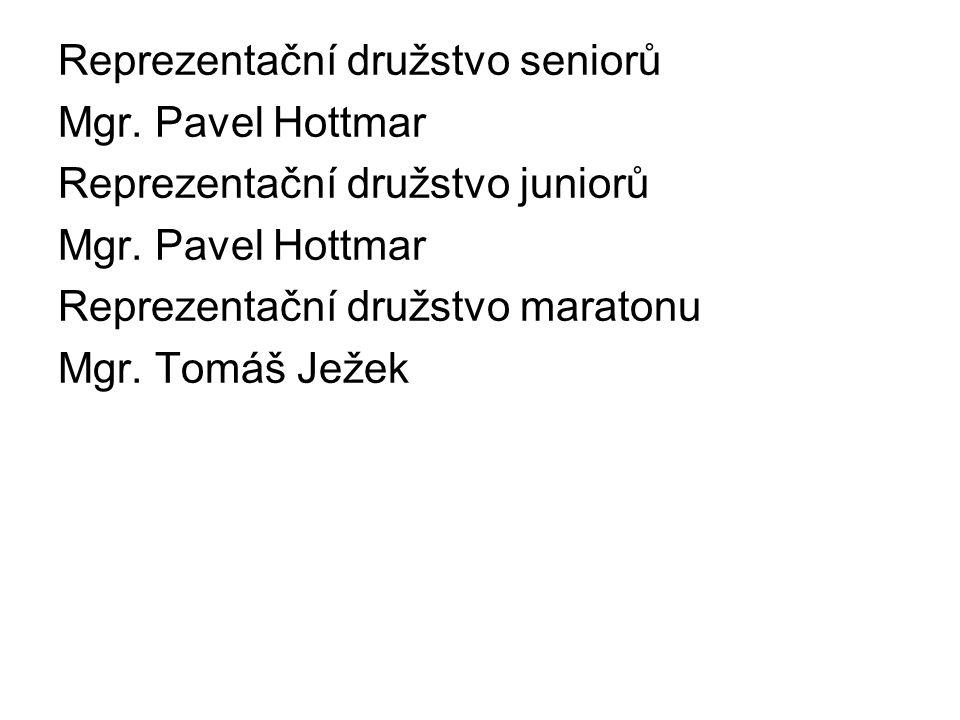 Reprezentační družstvo seniorů Mgr. Pavel Hottmar Reprezentační družstvo juniorů Mgr. Pavel Hottmar Reprezentační družstvo maratonu Mgr. Tomáš Ježek