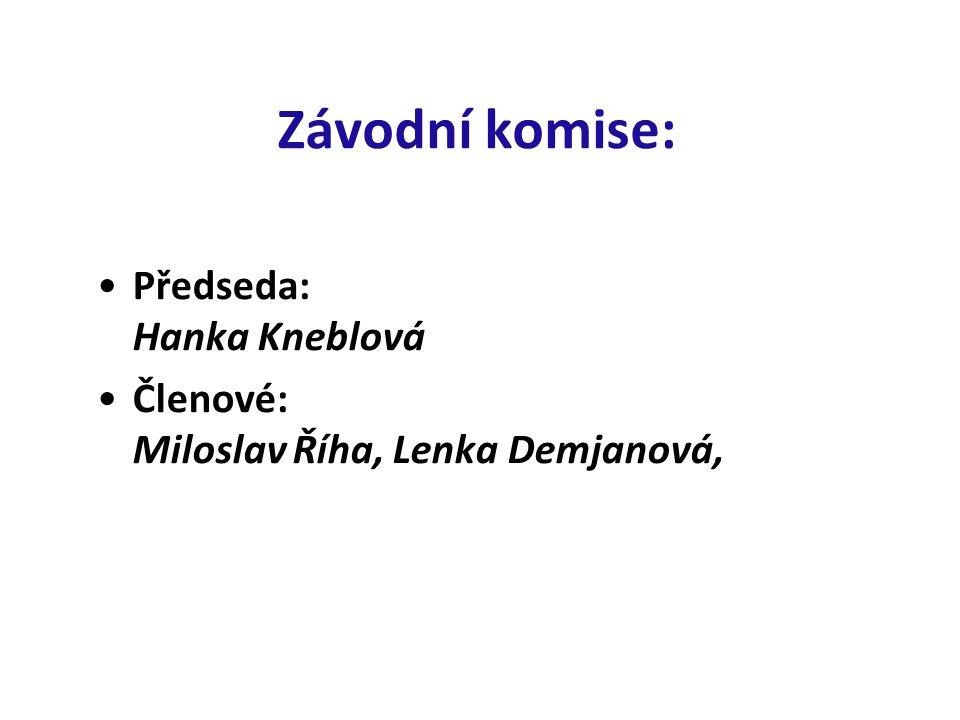 Závodní komise: Předseda: Hanka Kneblová Členové: Miloslav Říha, Lenka Demjanová,