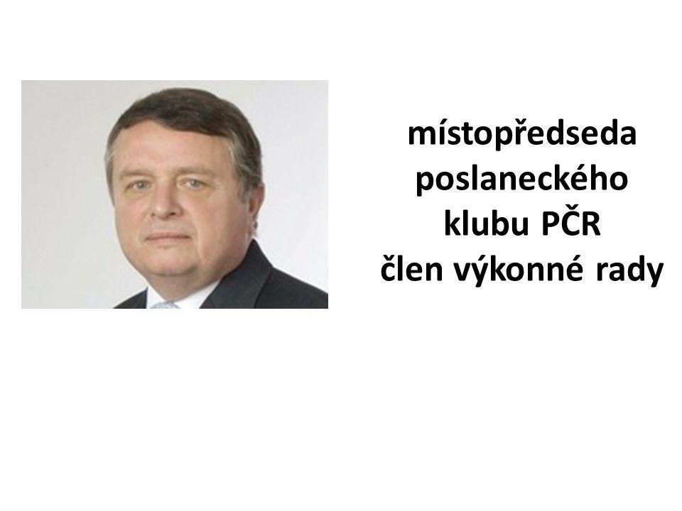 místopředseda poslaneckého klubu PČR člen výkonné rady
