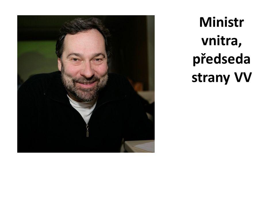 Ministr vnitra, předseda strany VV